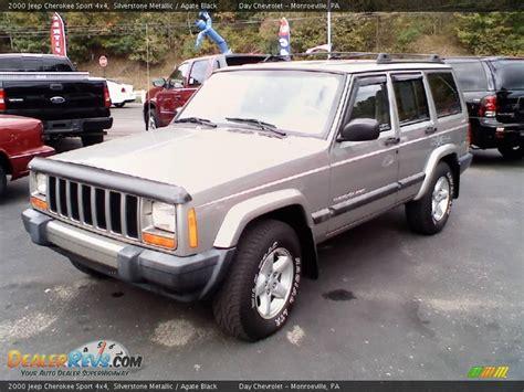 2000 jeep cherokee black 2000 jeep cherokee sport 4x4 silverstone metallic agate