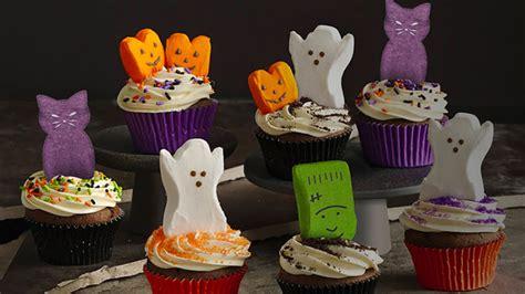 peeps halloween party cupcakes recipe bettycrockercom