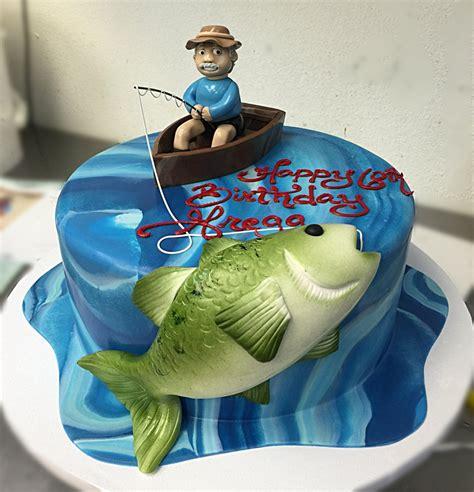 fishing cake birthday cakes   fish cake