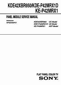 Sony Kde-42xbr950  Kde-50xbr950 Service Manual
