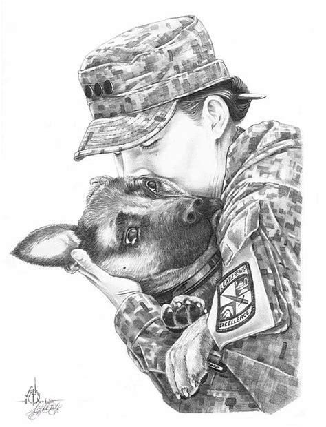 Goodbye Kiss | Military drawings, Warrior drawing, Badass drawings