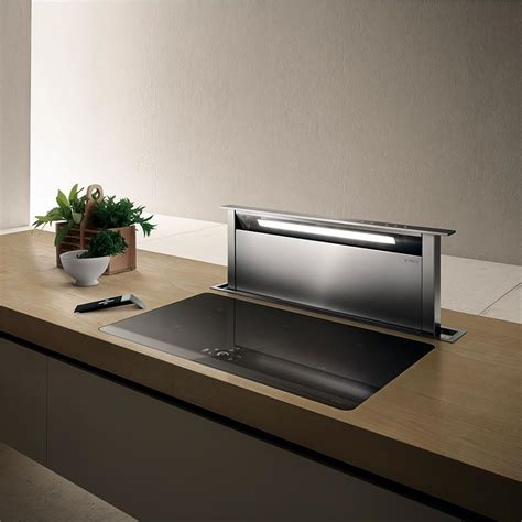 hotte cuisine elica hotte escamotable adagio pour plan de travail