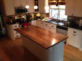 custom built kitchen island crafted solid walnut kitchen island top by custom furnishings workshop llc custommade