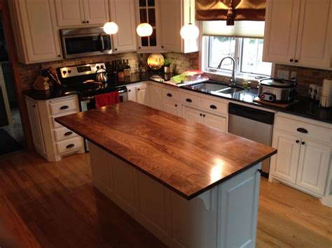kitchen island countertops crafted solid walnut kitchen island top by custom
