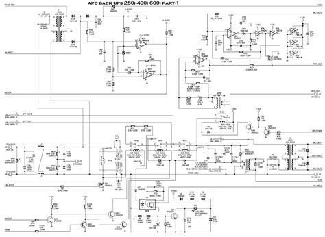 Apc Wiring Diagram by Ups Schematic Diagram Schematic Send104b
