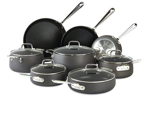 clad ha hard anodized nonstick  piece cookware set  sale  shipping