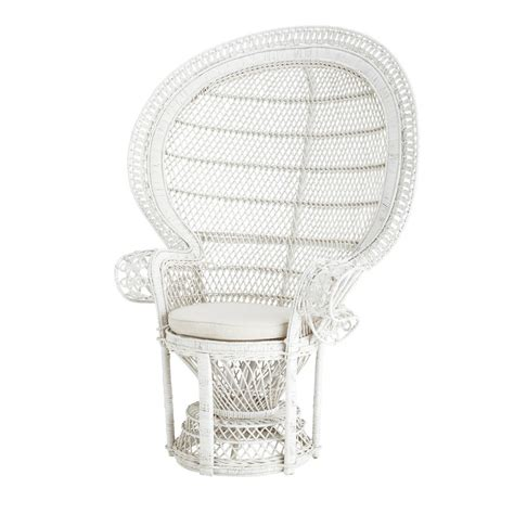 fauteuil emmanuelle en rotin fauteuil rotin blanc emmanuelle maisons du monde
