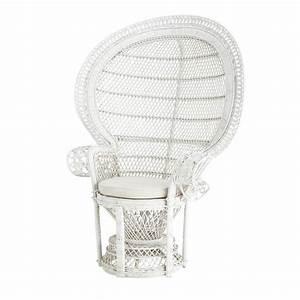 Fauteuil Maison Du Monde : fauteuil rotin blanc emmanuelle maisons du monde ~ Teatrodelosmanantiales.com Idées de Décoration
