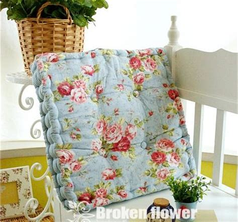 shabby country chic blue thick cotton