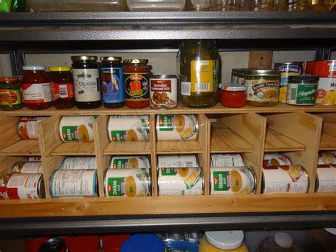 can storage rack diy fifo canned food storage rack