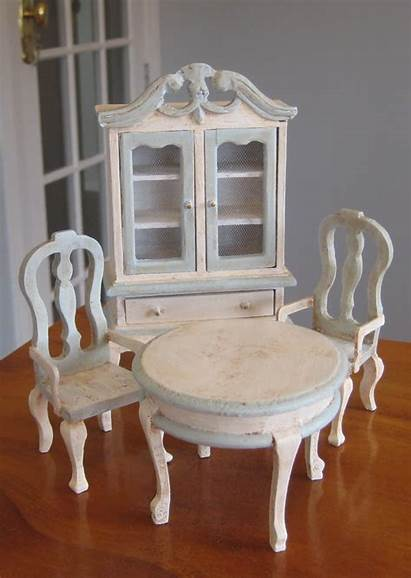 Furniture Dollhouse Makeovers French Paint Makeover Felt