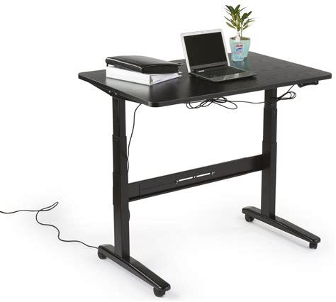 motorized adjustable height desk electric adjustable height desk black tabletop