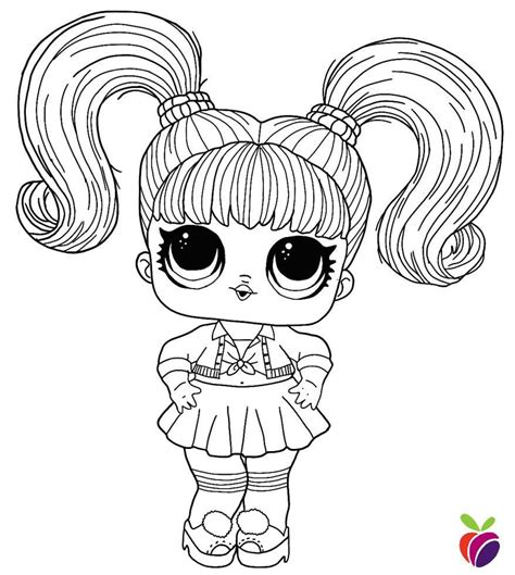 LOL surprise Hairgoals series coloring page Oops Baby in