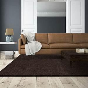best tapis salon marron chocolat photos lalawgroupus With tapis shaggy orange