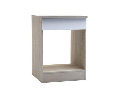 meuble cuisine habitat meuble de cuisine bas four 60 quot quot chêne brossé