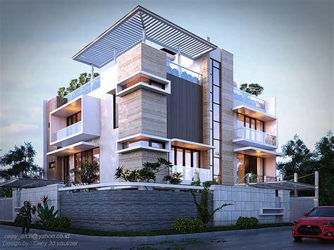 models houses villas modern  family house