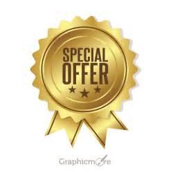 Gold Special Offer Badge Design Free Vector File Download