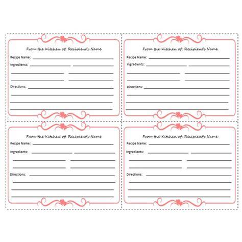 free editable recipe card templates for microsoft word 5 free printable recipe card templates for microsoft word