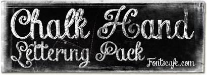 Lettering Chalk Hand Fonts Pack Font Chalkboard