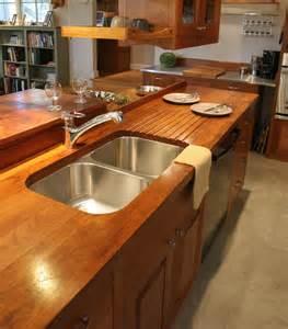 Kitchen Island Stove Top Sink Cutouts In Custom Wood Countertops