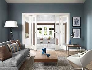 Grau Blaue Wand : die besten 25 blaue wand ideen auf pinterest blaue wandfarbe wandvitrinen und blau wandfarben ~ Watch28wear.com Haus und Dekorationen