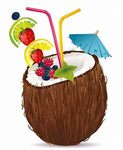 Exotic clipart coconut drink - Pencil and in color exotic ...
