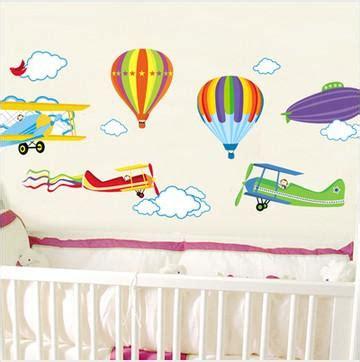 hot air balloon  aircraft wall stickers kids room wall