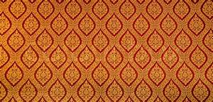 The Traditional Thai style art golden painting pattern on