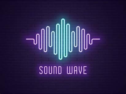 Neon Sound Wave Dribbble