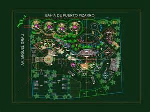 Beach Resort with Restaurant 2D DWG Design Plan for