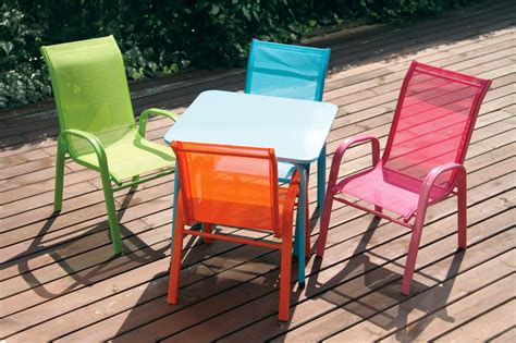 chaises exterieur table de jardin enfant table chaise banc imagin