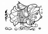 Coloring Animals Fish Columbine Cartoon Davon Illustrationen Lustiges Malbuch Lovable Fische Karikatur Akelei Forest sketch template