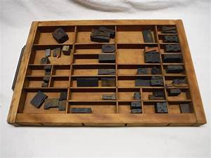 antique printer drawers for sale classifieds With metal typeset letters for sale