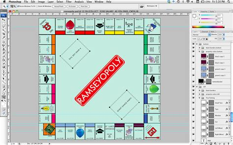 Custom Monopoly Board Template by How To How And How Much How To Make A Personalized