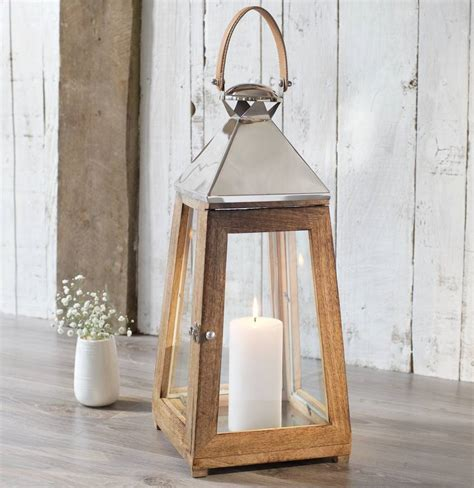 wooden candle lantern by za za homes notonthehighstreet