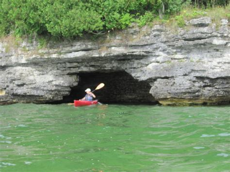 door county kayaking cave point county park kayak tour with door county kayak