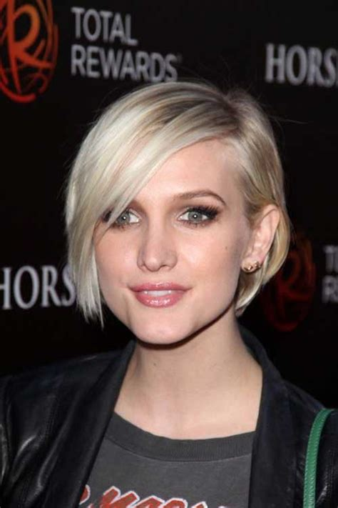 Short Haircuts Round Face Thick Hair
