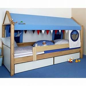 Lit Maison Enfant : lit cabane de breuyn secret de chambre ~ Farleysfitness.com Idées de Décoration