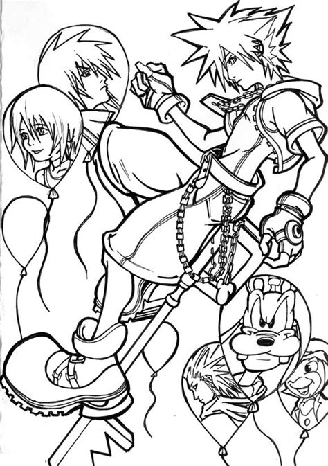 Kingdom Hearts Lineart by Deathscent | Kingdom hearts fanart