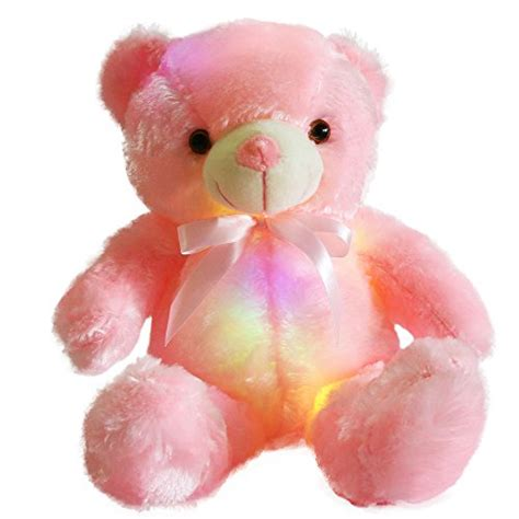 light stuffed animal wewill creative light up led inductive teddy stuffed