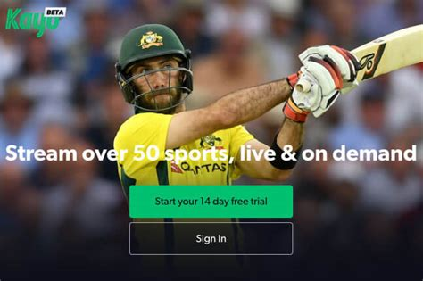 kayo sports  offers  trial  watching sport