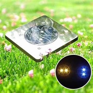Garden square led solar power ground light outdoor patio
