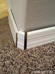 replace baseboards  destroying  walls