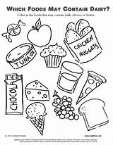 Coloring Pages Dessert sketch template