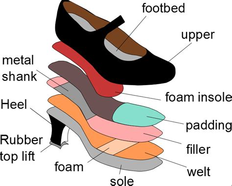 Diagram Of Heel Structure the structure of a high heeled shoe scientific