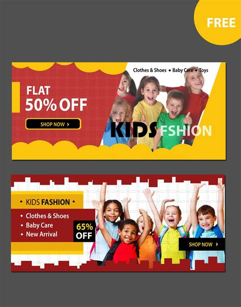kids fashion website banners  website psd banners