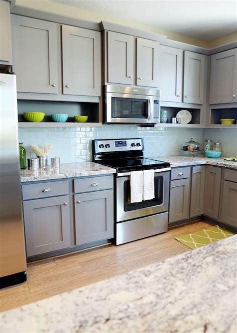 Excellent Decoration Blue Gray Kitchen Cabinets Grey Fun