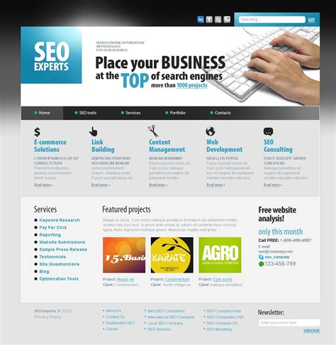 seo my website seo website website template 30073