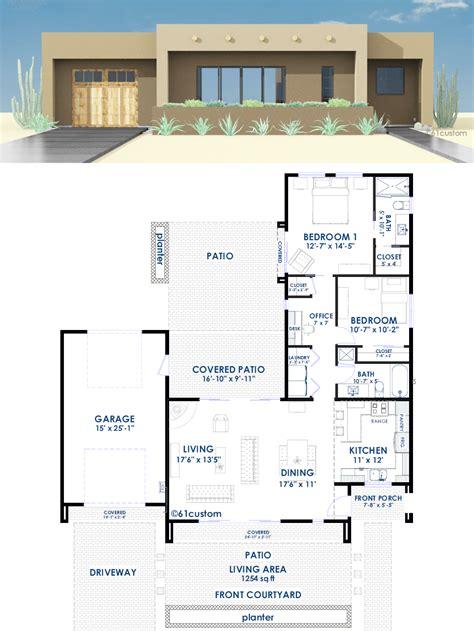 builder home plans contemporary adobe house plan 61custom contemporary