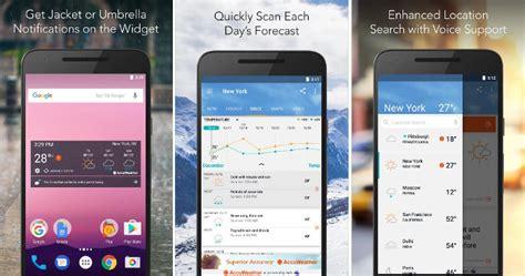 accuweather android app top 6 best android weather widget app 2017